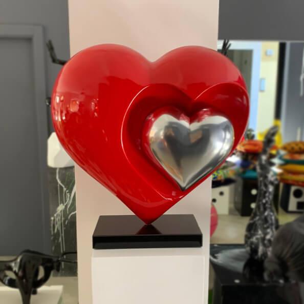 coeur-cuore-doppio-rosso-cromo